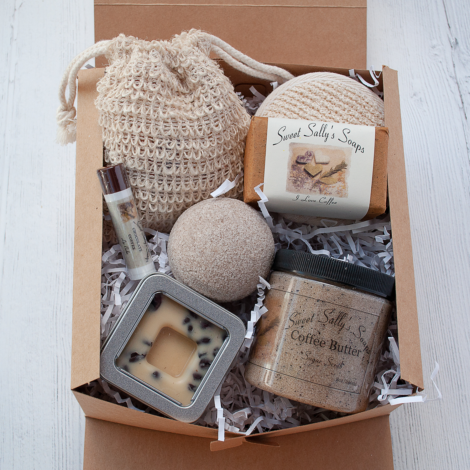 self care spa gift set coffee