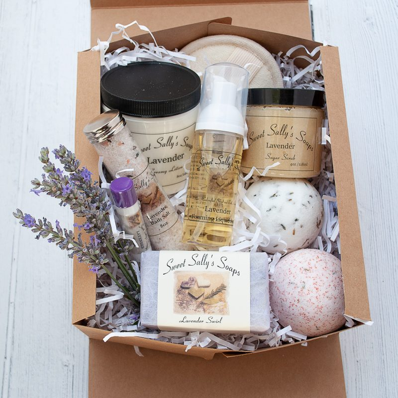 self care spa gift set lavender